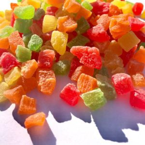 Candied fruits Pineapple cube mix (4 * 5) 20 kg