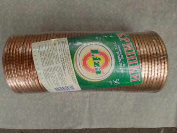 Крышка СКО TM Liza (красно-золотой логотип) 82 лак-лак 50 шт