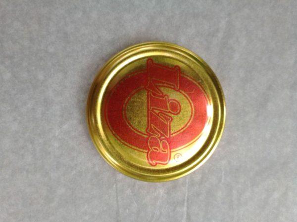 """Крышка Твист - 82 ТМ"""" Liza"""" лак золотая, с логотипом 20 шт"""