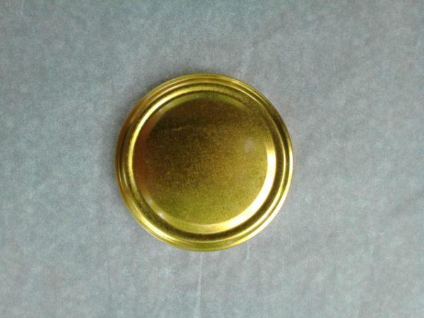 Крышка закаточная Твист - 82, лак золотая по 20 шт, Liza